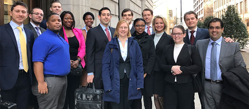 Students join Mark Goldfeder and Sarah Shalf at the U. S. Court of Appeals for the 11th Circuit.